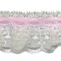 Wrights Ruffle with Ribbon - 1 3/4""