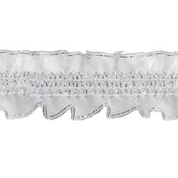 Wrights Stretch Ruffle - 1""