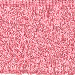 Wrights Pink Poly Fringe - 4""