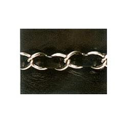 Wrights Pleather Band with Chain - 1 1/4""