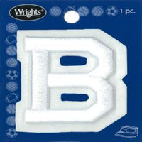 Wrights Letter B Raised Embroidery