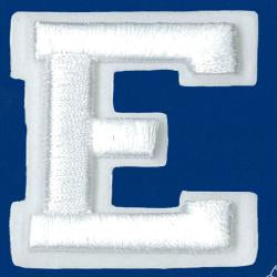 Wrights Letter E Raised Embroidery
