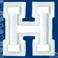 Wrights Letter H Raised Embroidery