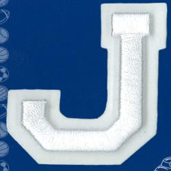 Wrights Letter J Raised Embroidery