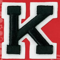 Wrights Letter K Raised Embroidery