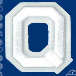 Wrights Letter Q Raised Embroidery