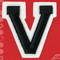 Wrights Letter V Raised Embroidery