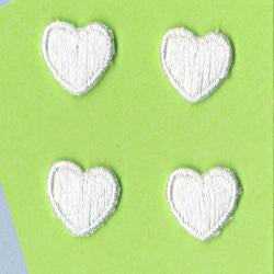 Wrights Mini Hearts White