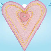 Wrights Pink Fuzzy Heart