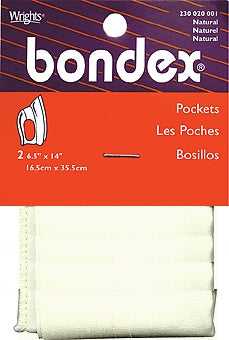 Wrights Bondex Pockets (Iron On)