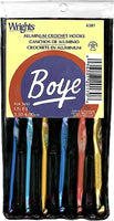 Wrights Boye Aluminum Crochet Hook Set - 3.50mm-6.00mm