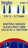 "Wrights Boye Double Pointed Aluminum Knitting Needles - 7"" Width"