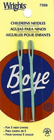 Wrights Boye Childrens Plastic Yarn Needles