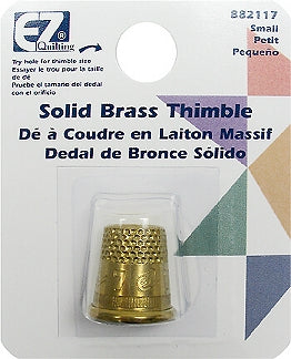 Wrights Solid Brass Thimble - Size Small
