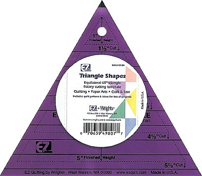 Wrights 60° Triangle Colored Template
