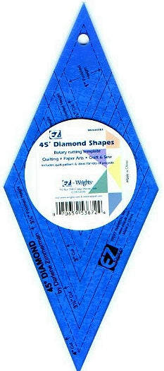 Wrights 45° Colored Diamond Template