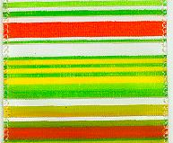 JKM Stripe Bright Ribbon with Wire Edge