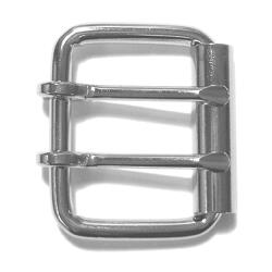 JKM Heavy Roller Buckle with Two Prongs - 1 1/2""