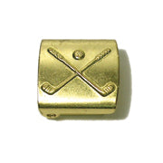 JKM Golf Cap Buckle with Cross Club - 3/4""