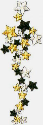 JKM Metallic Star Cluster Applique (Iron On)