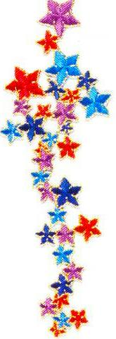 JKM Colored Star Cluster Applique (Iron On)