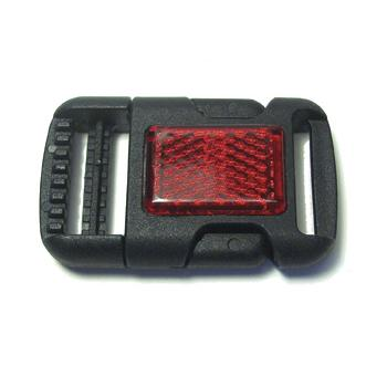 JKM Side Release Buckle with Red Reflector - 1""