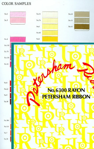 JKM Petersham Grosgrain Sample Card