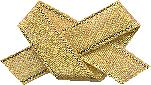JKM Gold Narrow Acetate Ribbon