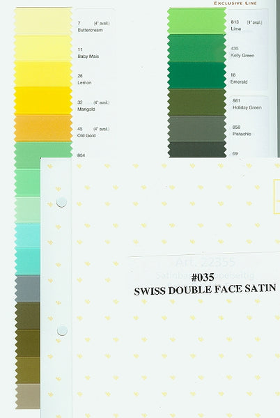 Morex Swiss Double Face Satin Sample Card