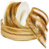 JKM Petersburg Wired Metallic Sheer Ribbon