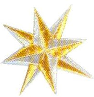 JKM Large 8 Point Star Applique (Stick On)