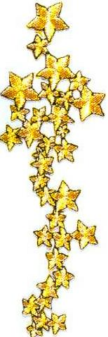 JKM Gold Star Cluster Applique (Iron On)