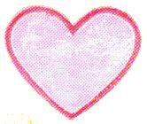 JKM Iridescent Heart with Trim Applique (Stick On)