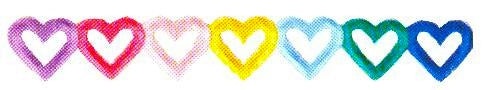 JKM Multi Heart Straight Banner Applique (Iron On)