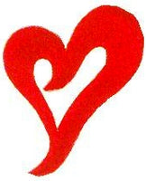 JKM Large Red Wavy Heart Applique (Stick On)