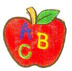 JKM ABC Apple Applique (Iron On)