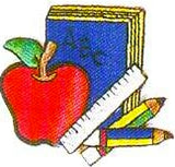 JKM Book & Apple and Supplies Applique (Stick On)