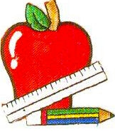 JKM Apple & Ruler and Pencil Applique (Iron On)