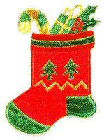 JKM Medium Red Stocking Applique (Stick On)