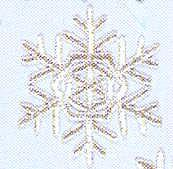 JKM Silver Snowflake Applique (Iron On)