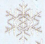 JKM Silver Snowflake Applique (Stick On)