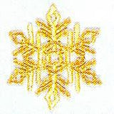 JKM Large Gold Snowflake Applique (Iron On)