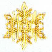 JKM Large Gold Snowflake Applique (Stick On)