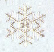 JKM Silver Snowflake Style II Applique (Iron & Stick On)
