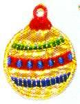 JKM Gold and Red Christmas Ornament Applique (Iron On)