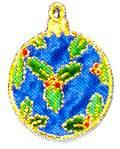 JKM Blue Christmas Ornament Applique (Iron On)