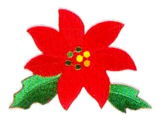 JKM Poinsettia Applique (Iron On)