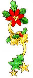 JKM Holly and Bells Garland Applique (Iron On)
