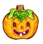 JKM Small Jack-O-Latern Applique (Stick On)
