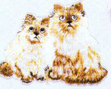 JKM Medium Two Cats Sitting Applique (Iron On)
